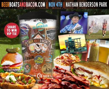 Win 2 tickets to Beer, Boats and Bacon 2017